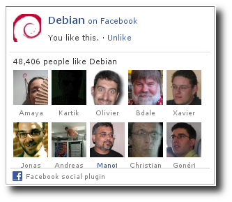Debian Developers who like Debian on Facebook