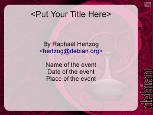 OpenOffice.org Impress Template for Debian Presentations