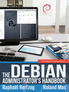 Cover of the Debian Administrator's Handbook (Wheezy edition)