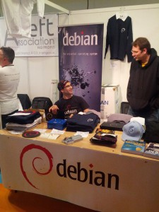 Debian France booth at Solutions Linux