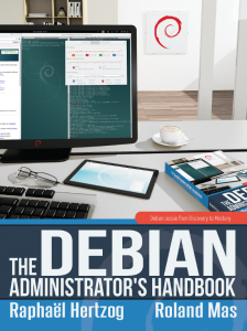 Debian Handbook: cover of the jessie edition